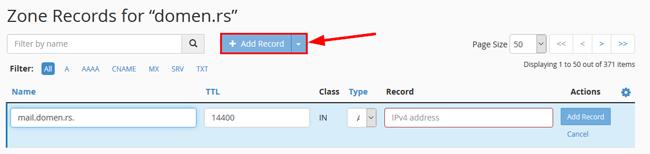 Add a Record