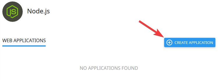 Nodejs create application