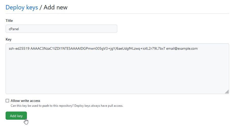 Github deploy keys