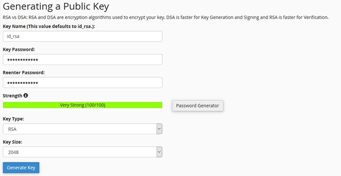 Pravljenje ključa i šifre