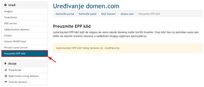 EPP kôd