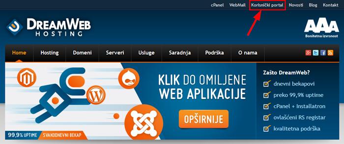 Link za korisnicki portal